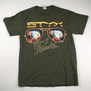 Styx Man Of Miracles World Tour Concert Graphic T